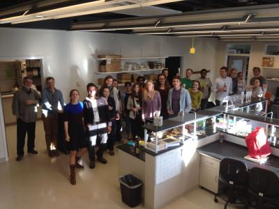 wide shot image of new lab group
